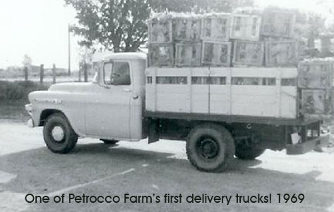 Photo of Petrocco Farms first delivery truck full of produce grown in Brighton, Colorado